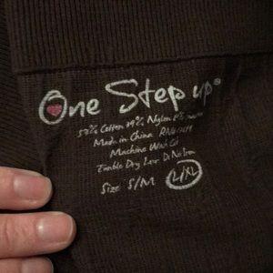 One Step Ahead Pants - Brown textured leggings